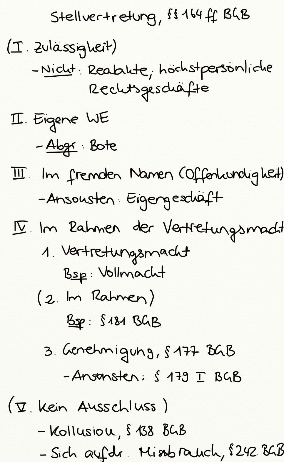 § 164 bgb