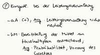 Tafelbild - Problem - Ermächtigungsgrundlage bei der Leistungsverwaltung