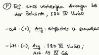 Tafelbild - Problem - Vorheriger Antrag bei der Behörde bei § 80 IV VwGO