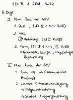 Tafelbild - § 80 V 1 2. Fall VwGO (Begründetheit)