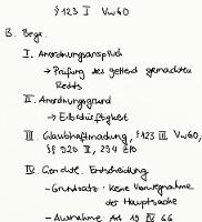 Tafelbild - § 123 I VwGO (Begründetheit)