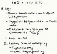 Tafelbild - § 80 V 1 1. Fall VwGO (Begründetheit)