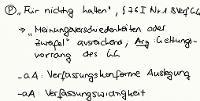 Tafelbild - Problem - Für nichtig halten, § 76 I Nr. 1 BVerfGG