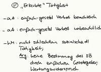 """Tafelbild - Problem - """"Erlaubte"""" Tätigkeit, Art. 12 I GG"""