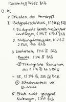 Tafelbild - Rücktritt, §§ 346 ff. BGB (Rechtsfolgen)