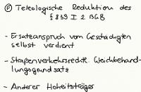 Tafelbild - Problem - Teleologische Reduktion des § 839 I 2 BGB