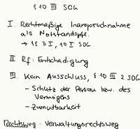 Tafelbild - § 10 III SOG