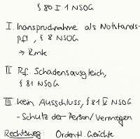 Tafelbild - § 80 I 1 NSOG