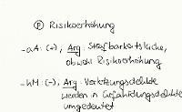 Tafelbild - Problem - Risikoerhöhung