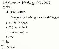 Tafelbild - Unterlassene Hilfeleistung, § 323c StGB