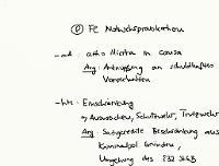 Tafelbild - Problem - Fahrlässige Notwehrprovokation
