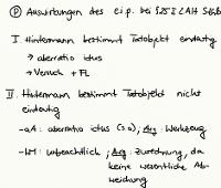 Tafelbild - Problem - Auswirkungen des e.i.p. bei § 25 I 2. Alt. StGB