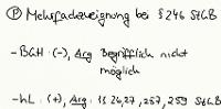 Tafelbild - Problem - Mehrfachzueignung bei § 246 StGB