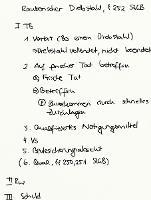 Tafelbild - Räuberischer Diebstahl, § 252 StGB