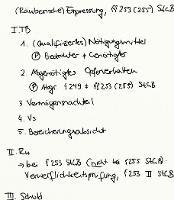 Tafelbild - (Räuberische) Erpressung, §§ 253 (255) StGB
