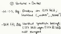 Tafelbild - Problem - Vortäter = Dritter