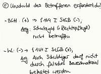 Tafelbild - Problem - Unschuld des Betroffenen bei § 164 I StGB