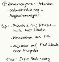 Tafelbild - Problem - Zusammengesetzte Urkunden