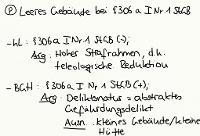 Tafelbild - Problem - Leeres Gebäude bei § 306a I Nr. 1 StGB
