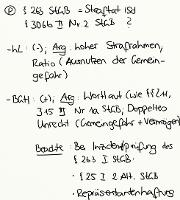 Tafelbild - Problem - § 263 StGB = Straftat i.S.d. § 306b II Nr. 2 StGB