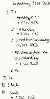 Tafelbild - Bestechung, § 334 StGB