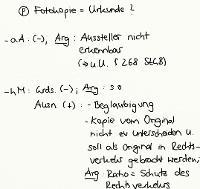 Tafelbild - Problem - Fotokopie = Urkunde