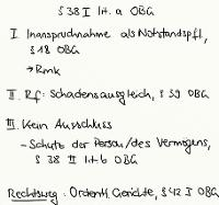Tafelbild - § 38 I lit. a OBG