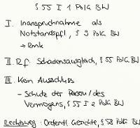 Tafelbild - § 55 I 1 PolG BW