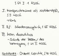 Tafelbild - § 64 I 1 HSOG