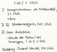 Tafelbild - § 68 I 1 SPolG