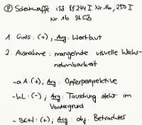 Tafelbild - Problem - Scheinwaffe i.S.d. §§ 244 I Nr. 1b, 250 I Nr. 1b StGB