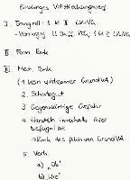 Tafelbild - Einaktiges Vollstreckungsverfahren, § 61 II LVwVG