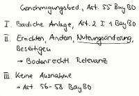 Tafelbild - Genehmigungsbedürftigkeit, Art. 55 BayBO