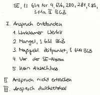 Tafelbild - Schadensersatz, §§ 634 Nr. 4, 636, 280, 281, 283, 311a II BGB