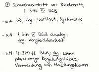 Tafelbild - Problem - Schadenseintritt vor Rücktritt, §§ 437 Nr. 2 1. Fall, 346 IV BGB