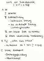 Tafelbild - Lehre vom Betriebsrisiko, § 615 S. 3 BGB