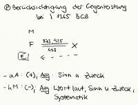 Tafelbild - Problem - Berücksichtigung der Gegenleistung bei § 1365 BGB