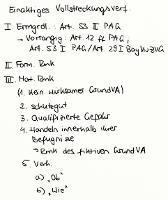 Tafelbild - Einaktiges Vollstreckungsverfahren, Art. 53 II PAG