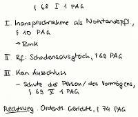 Tafelbild - § 68 I 1 PAG