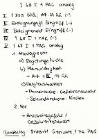 Tafelbild - § 68 I 1 PAG analog