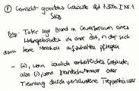 Tafelbild - Problem - Gemischt-genutztes Gebäude i.R.d. § 306a I Nr. 1 StGB