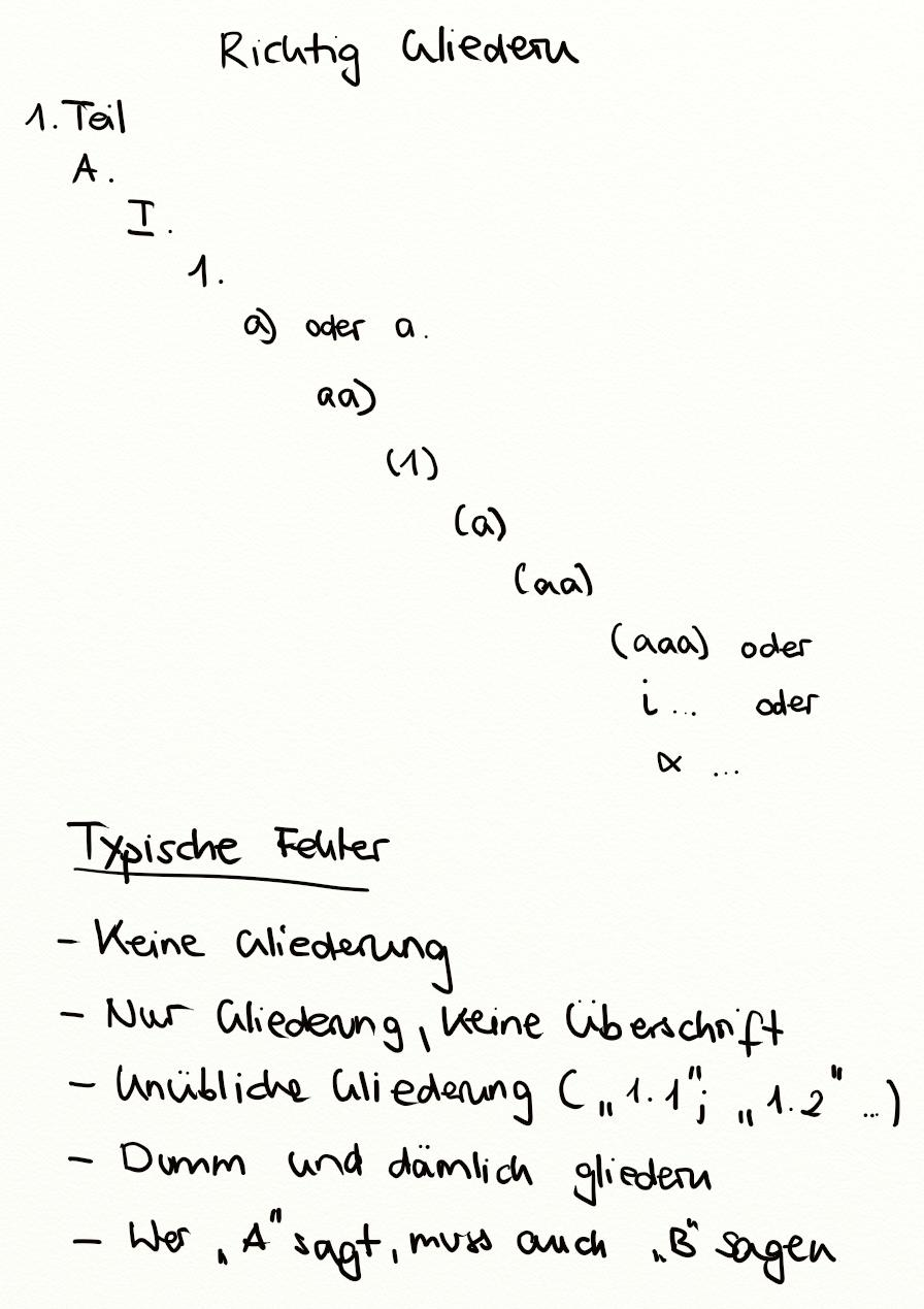 Richtige gliederung wie schreibe ich eine facharbeit deutsch