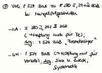 Tafelbild - Problem - Verhältnis von § 524 BGB zu §§ 280 I, 241 II BGB bei Mangelfolgeschäden