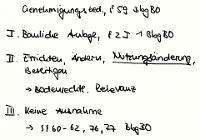 Tafelbild - Genehmigungsbedurftigkeit, § 59 BbgBO