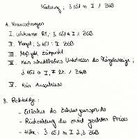Tafelbild - Minderung, § 651m I 1 BGB